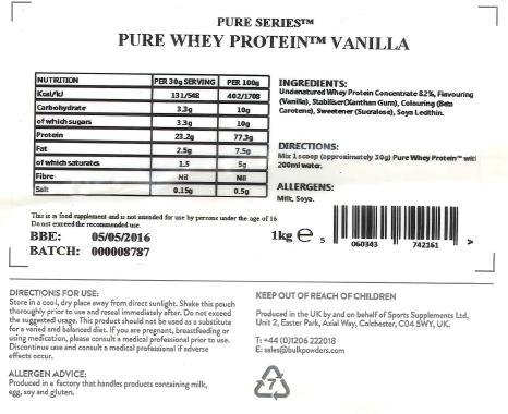 pure whey bulkpowders