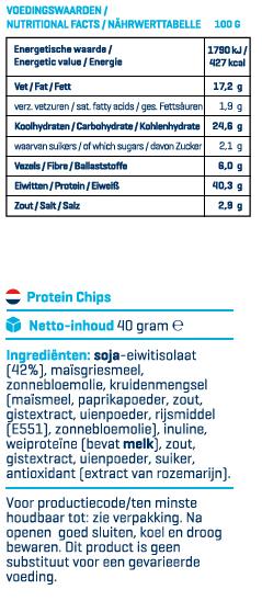 protein chips ingrediënten