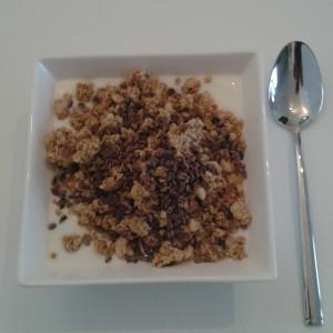 yoghurt met noten en cacao nibs