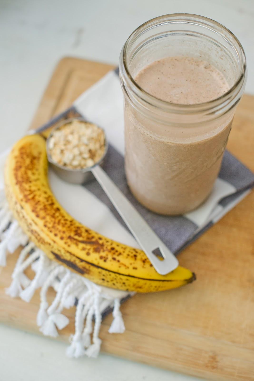 choco banaan eiwitshake recept