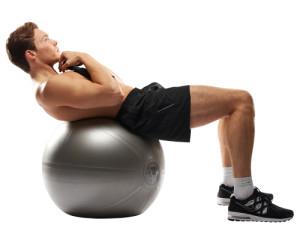 thuis fitness met swiss ball