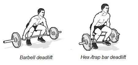 hex bar deadlift of barbell deadlift