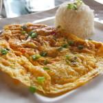 Thaise omelet recept met gehakt en lente-ui
