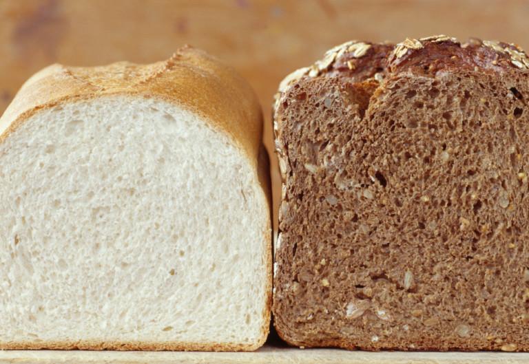 volkorenbrood en witbrood