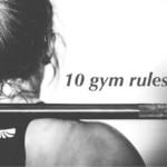 10 sportschool regels voor iedere sporter