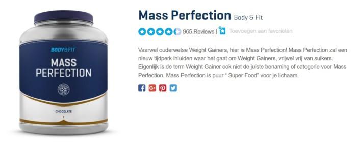 mass perfection body en fitshop