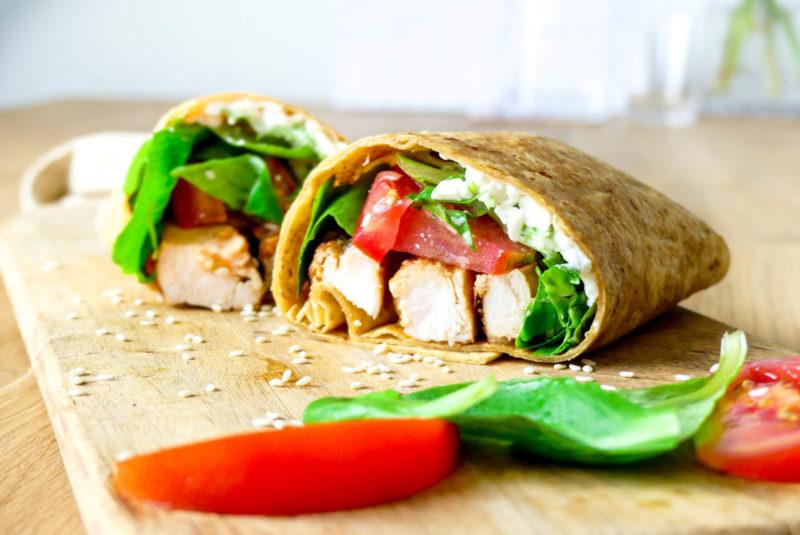 gegrilde kip wrap recept