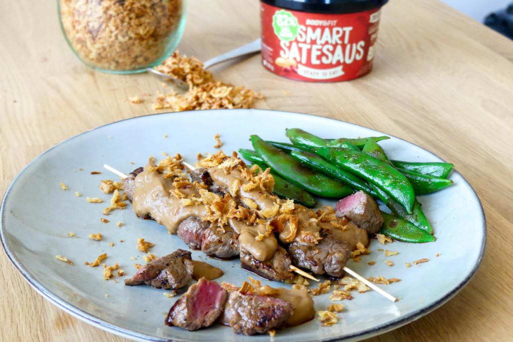 gezonde biefstuk saté