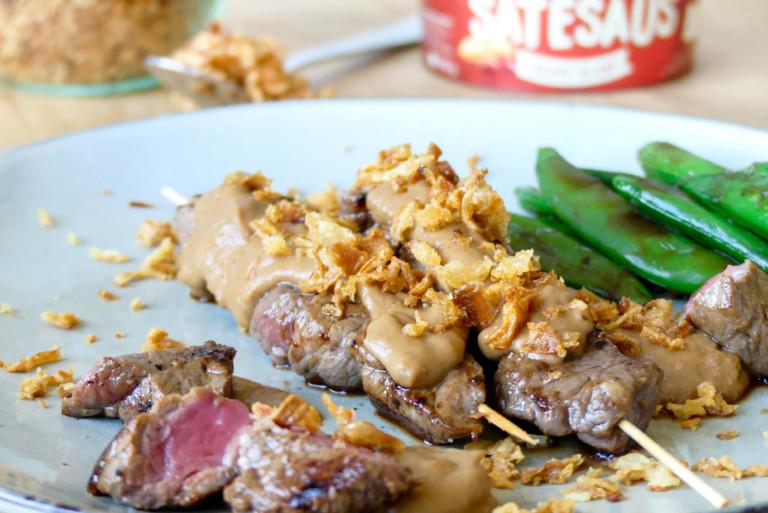 recept biefstuk saté
