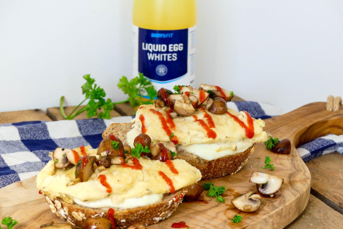 volkoren brood met omelet recept
