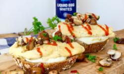 volkoren brood met omelet