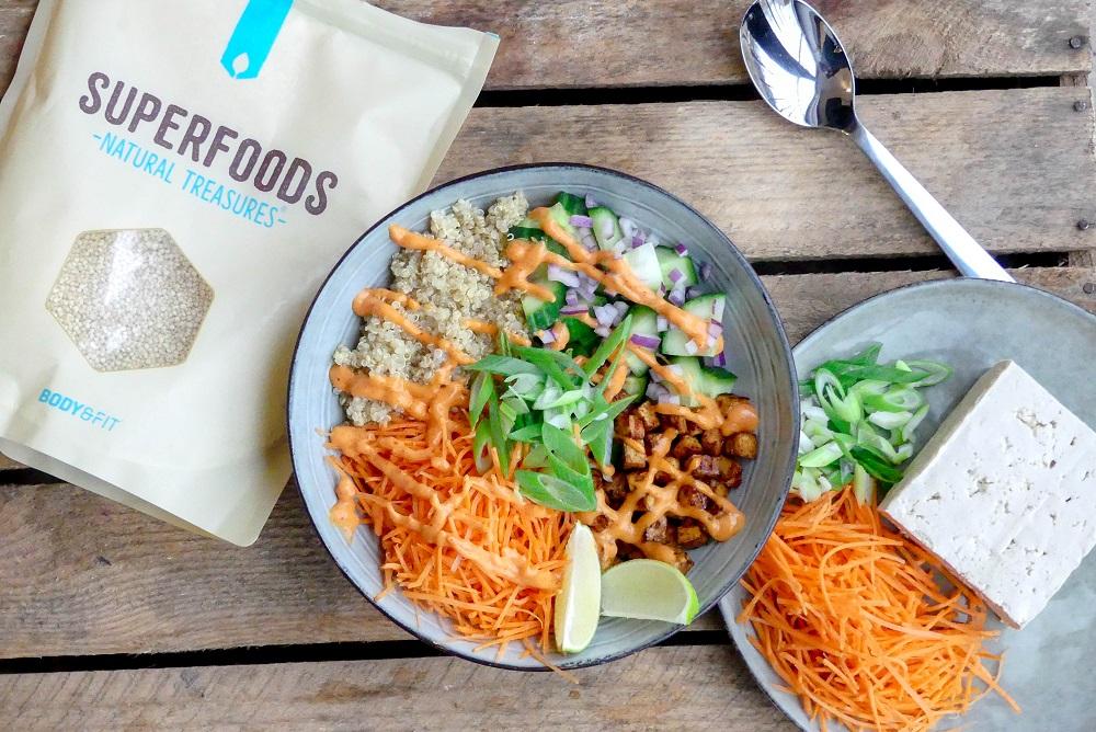 vegan quina bowl recept