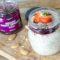 Overnight Oats recept met jam en amandelen