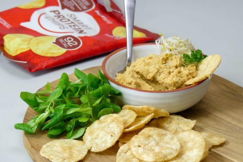 eiwit chips hummus recept