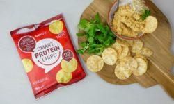 proteine chips met pittige hummus